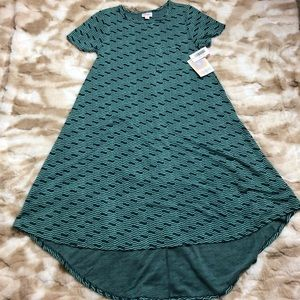 Lularoe NWT Women XXS Carly Green Dress
